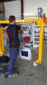 CubiScan Pallet Dimensioner in SCACO work shop