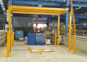 Pallet Scanning Dimensioning System for pallet freight with platform scale