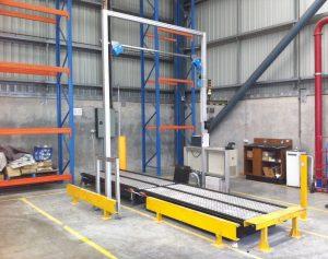 CubiScan Pallet Scan short conveyor