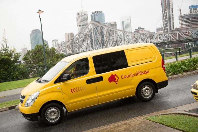 Couriers Please van in Brisbane