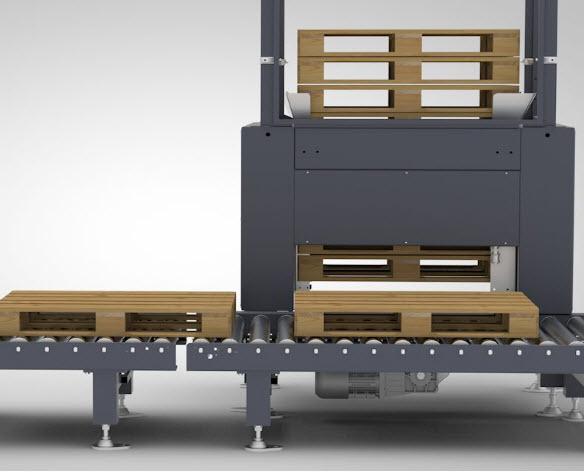 Side view of Pallet Dispenser Machine
