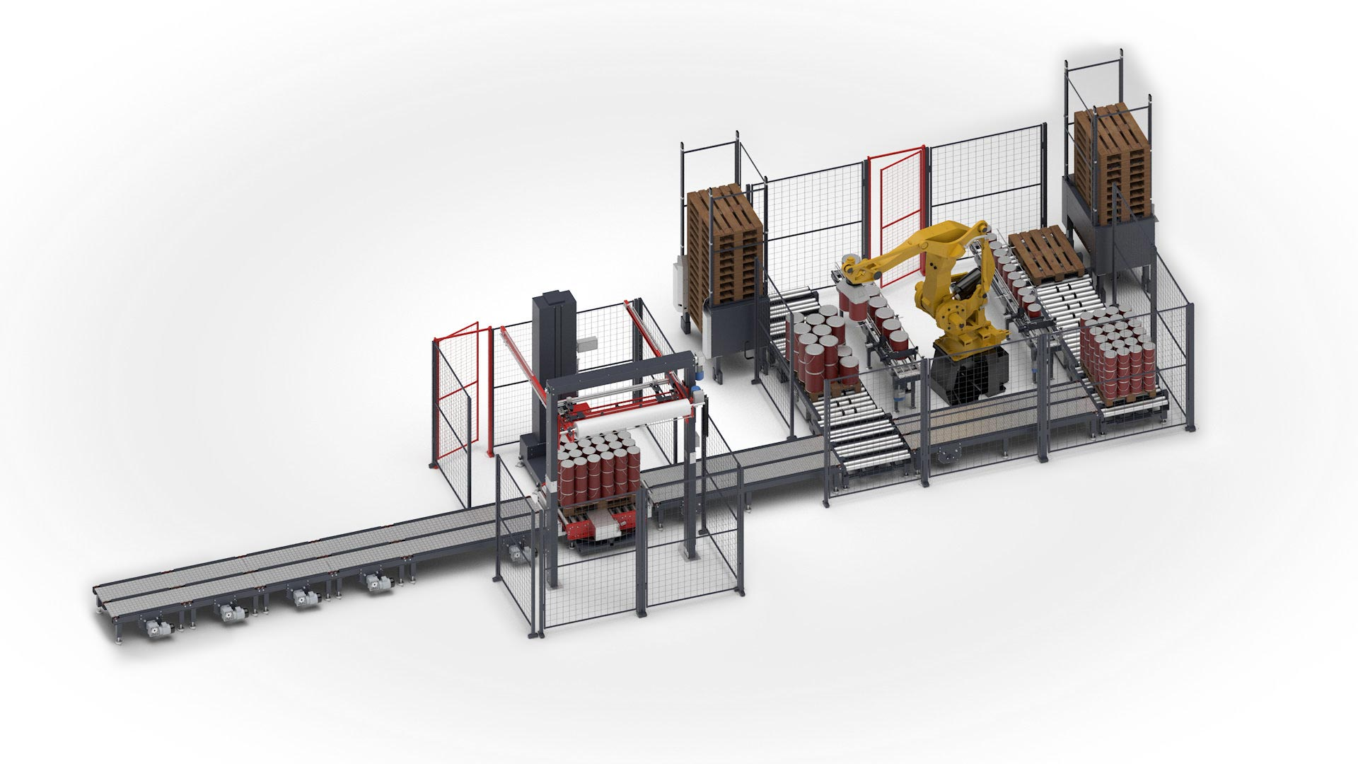 3D Model of AccuPaks Turnkey Palletising Machines