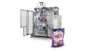 Vertical Form Fill Seal machine with product in foreground