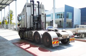 AccuWeigh Axle Weigher with truck prime mover