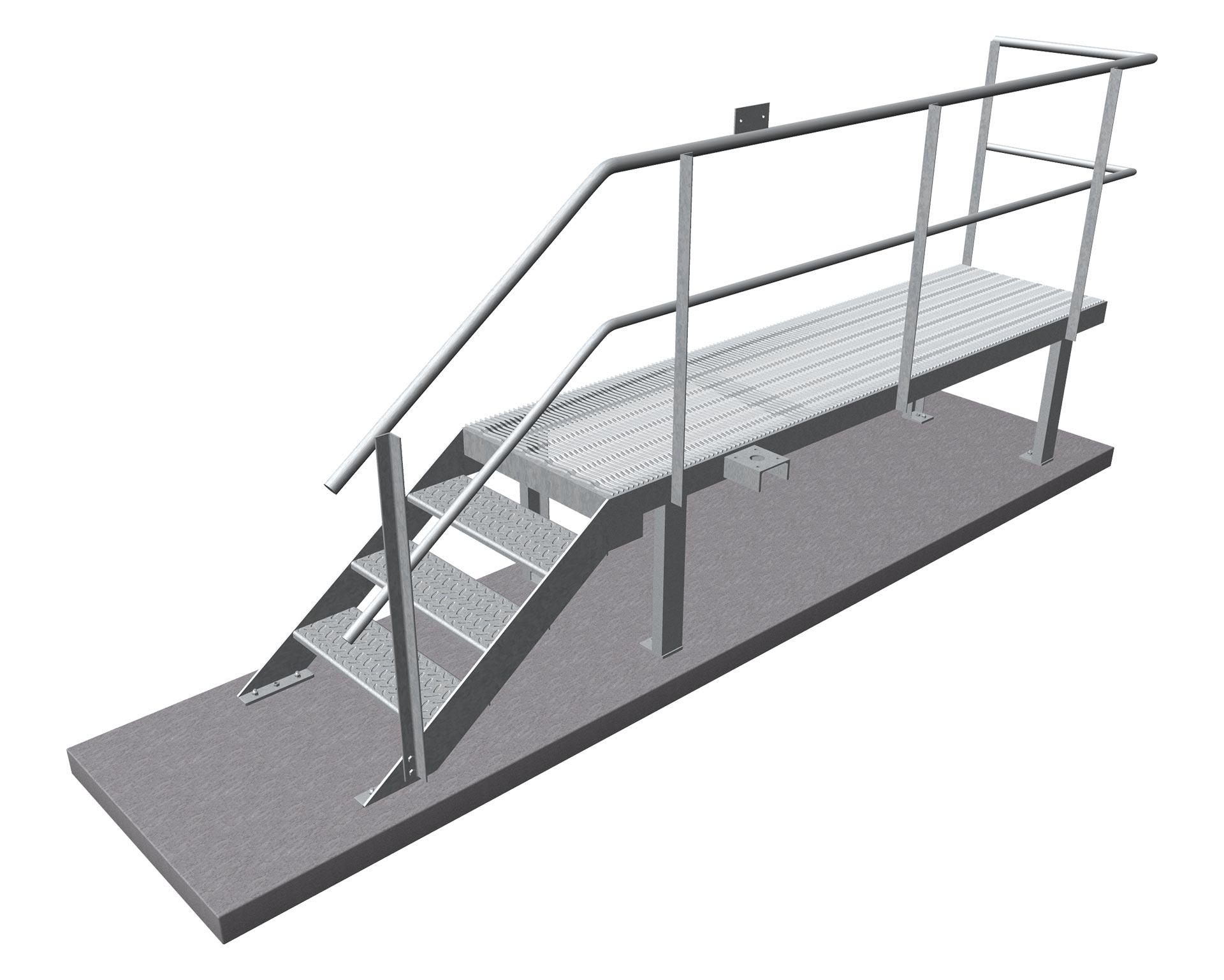 Driver Landing - Standard 3m - Weighbridge WHS