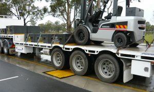 AccuWeigh Weigh-in-Motion Weighbridge in action