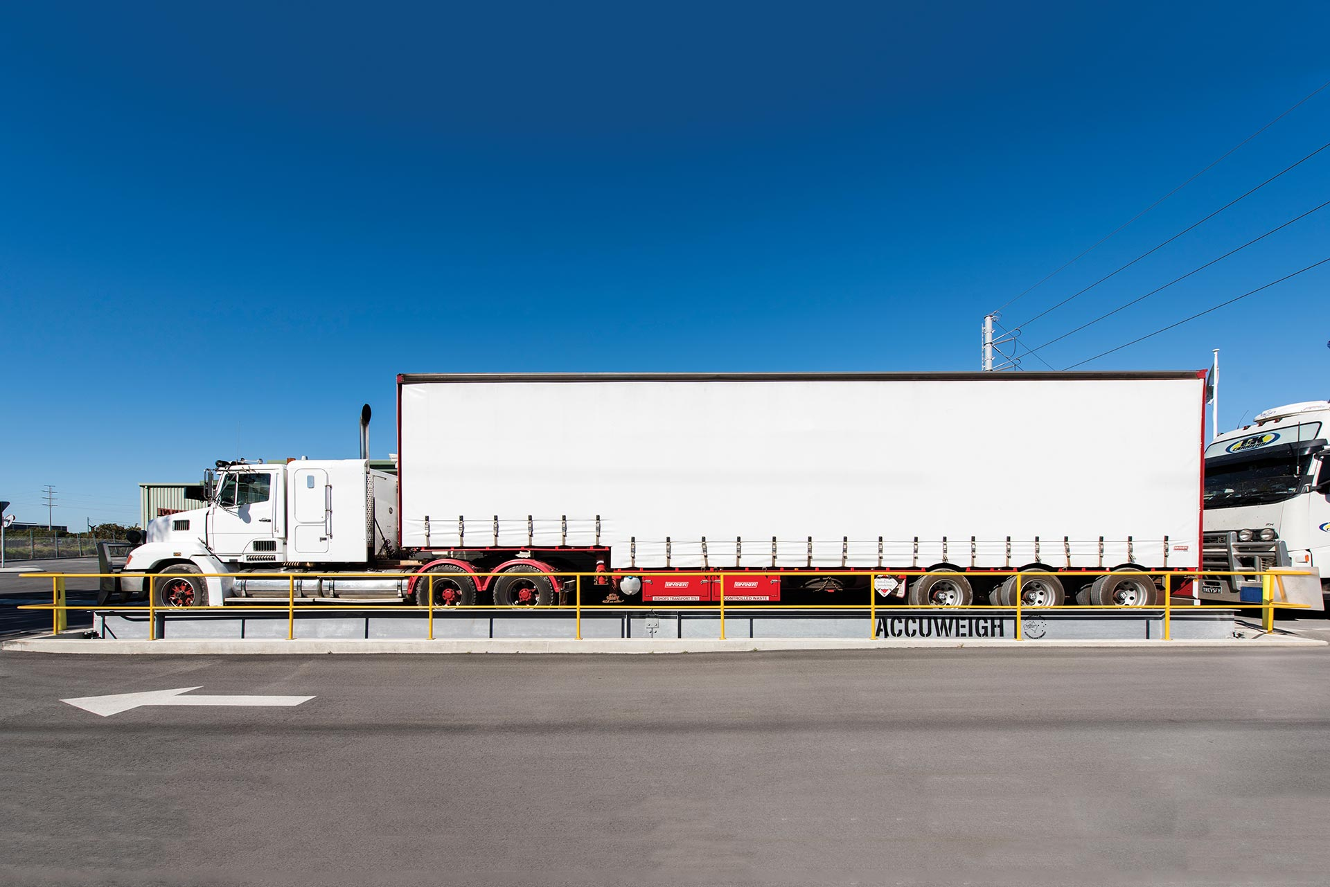 Semi Trailer on an AccuWeigh Weighbridge