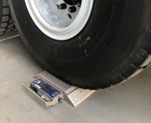 Wheel Weigh Pad In Use