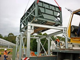 Weigh Hopper installation on support structure