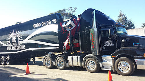 TruckWeigh and BulkWeigh systems for a scrap metal transport truck in New Zealand