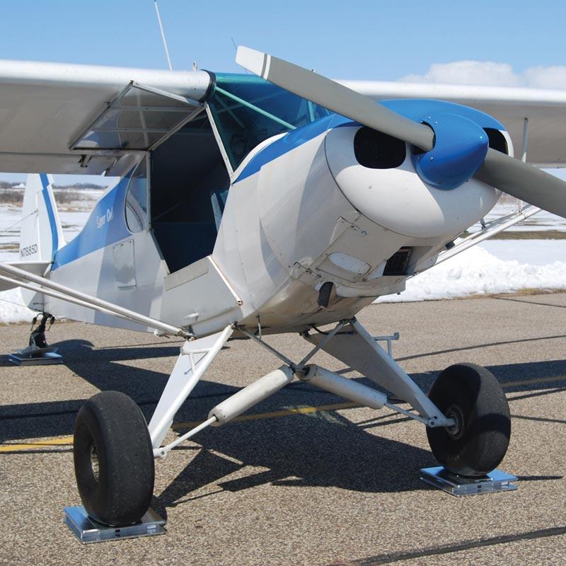 Super cub on aircraft scales