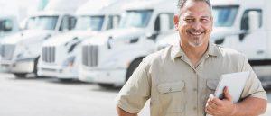 Depot manager with a fleet of trucks