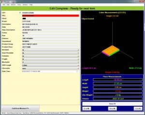 CubeMaster SKU Measurment Software