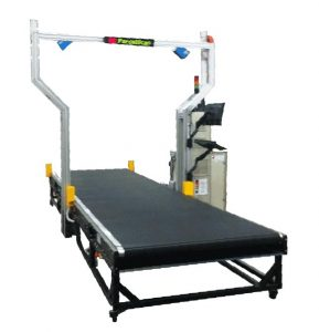 Maxicube In-Motion Parcel Dimensioner for larger non-conveyable parcels.