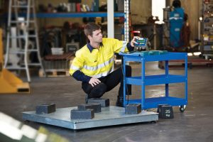 A300 Pallet Scale being calibrated