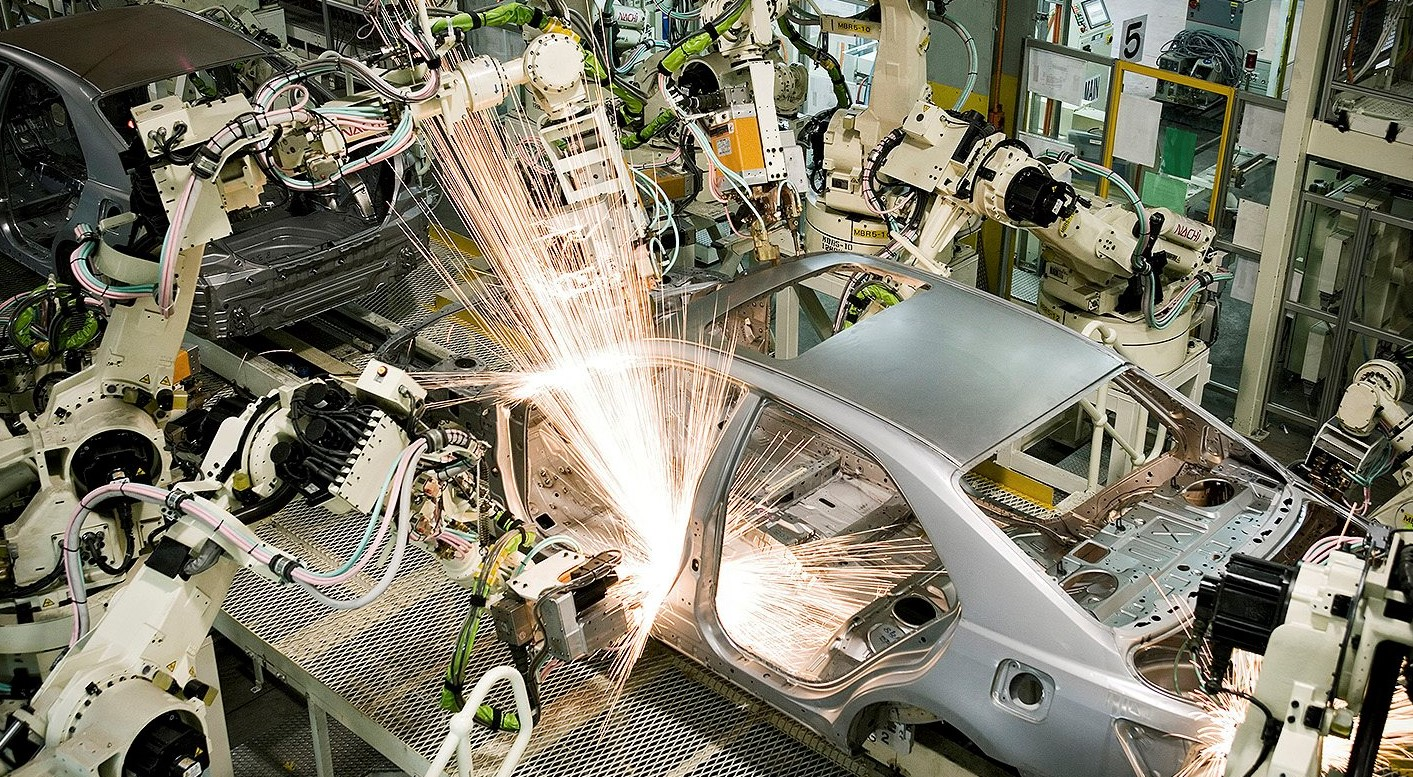 Robots on Toyota Production Line