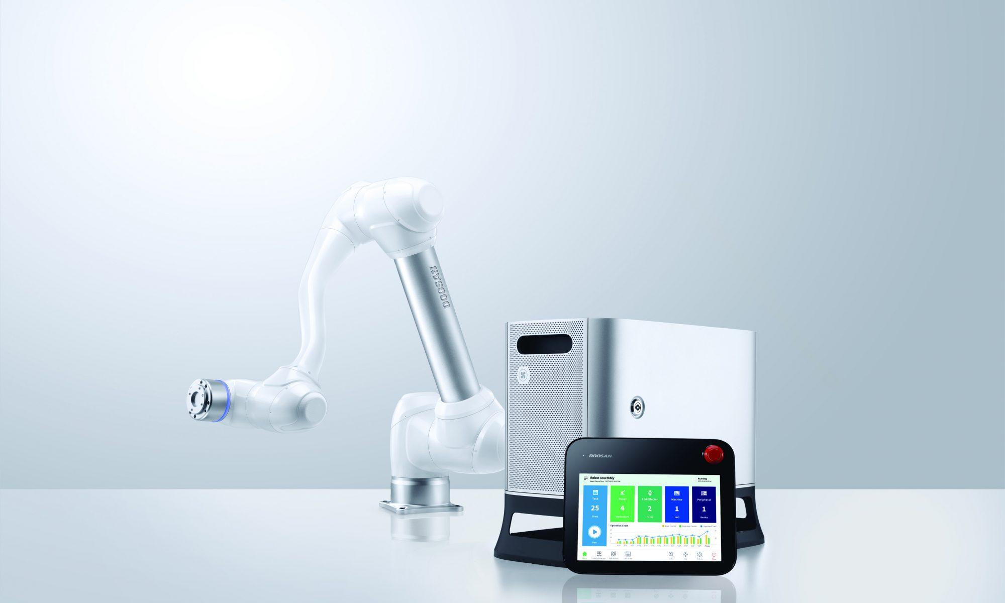 Doosan Cobots with Robot Controller and Teach Pendant