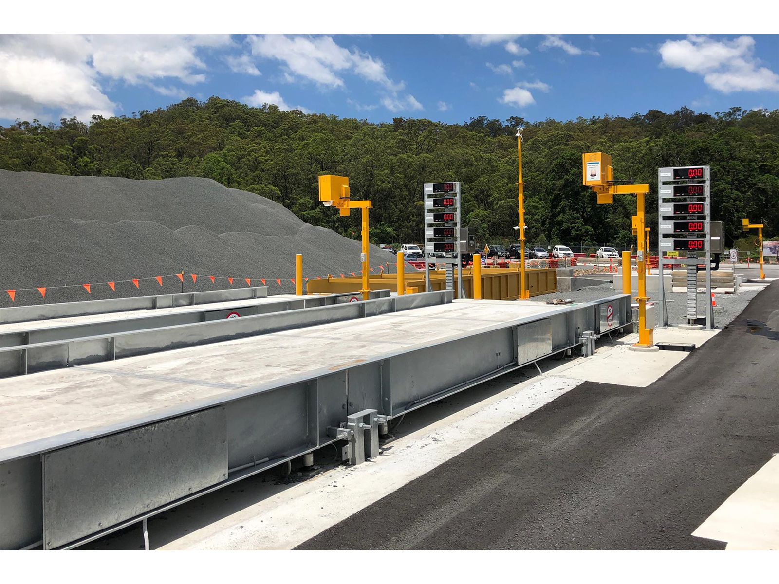 Above-ground weighbridge at quarry