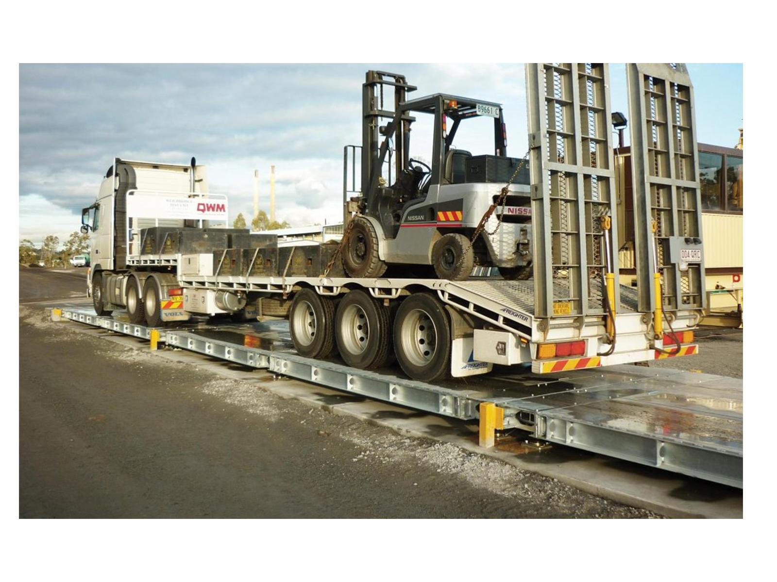 above ground weighbridge with test truck