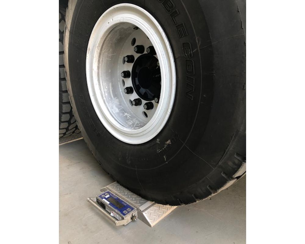 Truck Weigh Pads close up