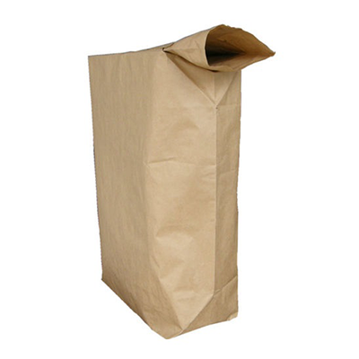 Valve bag for use in packaging machine