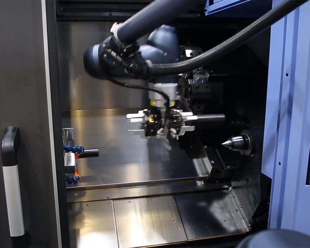 Machine tending cobot application 2