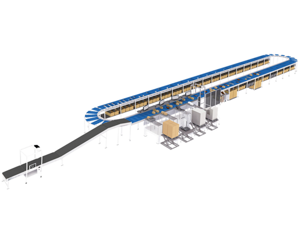 Carousel configuration conveyor from boewe systec