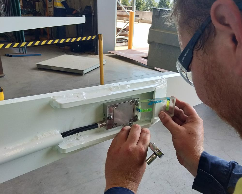 Installation of onboard vehicle weighing system