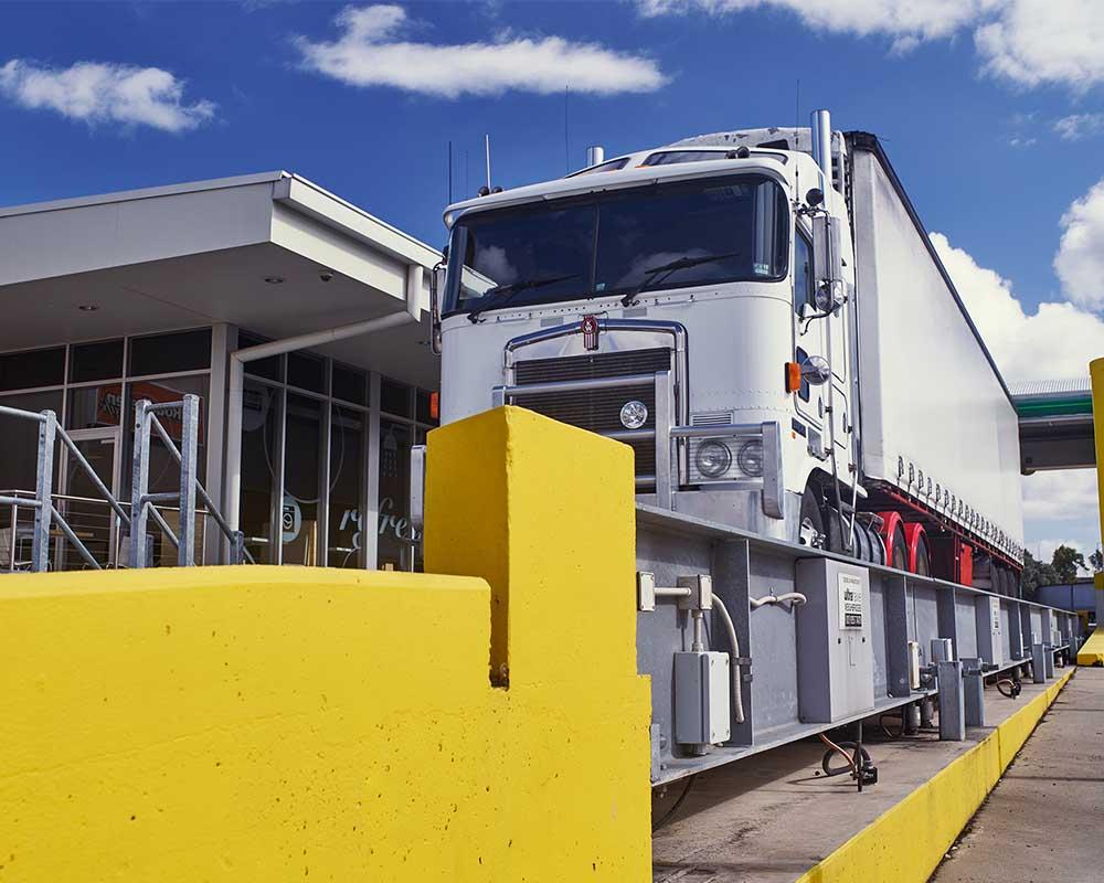 Transport logistics weighbridge