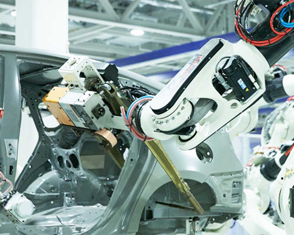 kawasaki assembly robot for car frames